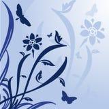 Floral Design. On a blue background royalty free illustration