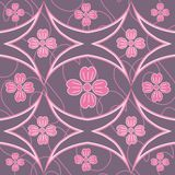 Floral Design. Abstract floral design in pink Vector Illustration
