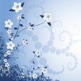 Floral Design. On a blue background vector illustration
