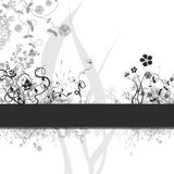 Floral design. Floral abstract design with several functional opportunities stock illustration
