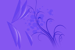 Floral design. For wall design floral in purple color Royalty Free Stock Photo