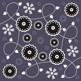 Floral design. Abstract decorative design with flowers Royalty Free Illustration