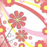 Floral design. Decorative spring design with flowers Stock Illustration