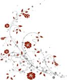 Floral design. Simple and elegant floral design Royalty Free Stock Image