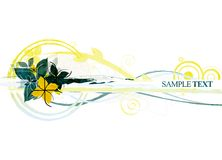 Floral Design. Abstract and textured floral design on white background stock illustration