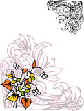 Floral design. With white background vector Royalty Free Stock Photos