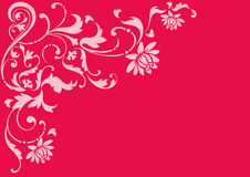 Floral design. A floral design in a red background Stock Image