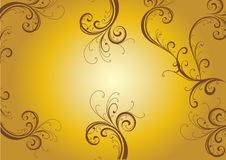 Floral design. In a yellow gradient background Royalty Free Stock Photo