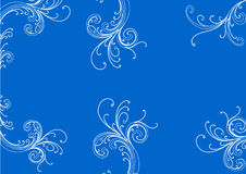 Floral design. In a blue Stock Images