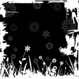 Floral design. Floral image with grunge border - additional ai and eps format available on request Stock Image