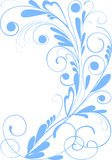 Floral design. Isolated on white abstract floral ornament royalty free illustration