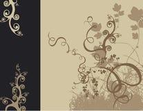 Floral design. Retro floral design stock illustration