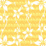 Floral Design. Flowers seamless pattern or wallpaper stock illustration
