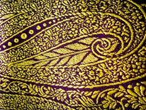 Floral design. Detailed floral design on a indian saree/sari stock image