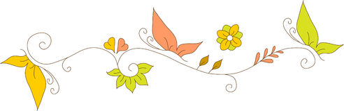 Floral Design. Vector, Abstract, hand drawn, floral design Stock Photos