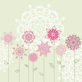 Floral design with arabesques Stock Photos