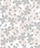 Floral design background. Seamless grey Royalty Free Illustration