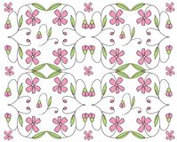 Floral design background. An illustration of pink flowers Stock Illustration
