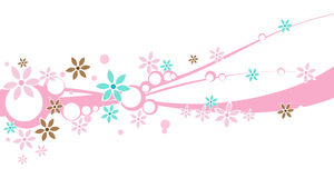 A floral Design Banner Stock Images