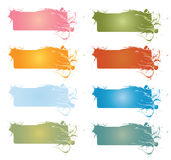 Floral design banners Stock Image
