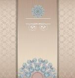 Floral design beige 10 eps Stock Images