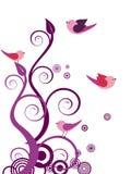 Floral design with birds Royalty Free Stock Photos