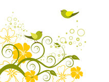 Floral design with birds Stock Photo