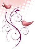 Floral design with birds Stock Photos