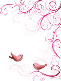 Floral design with birds Royalty Free Stock Image