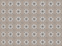Seni Desain. A floral design blend of lines and dots of grayish brown background, leaf / flower / plant design / ornament with brownish graduation, white, black Royalty Free Stock Image