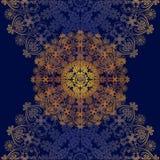 Floral Design Blue Stock Images