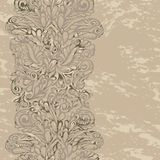 Floral design border in renaissance style. Model for design of gift packs, patterns fabric, wallpaper, web sites, etc Royalty Free Stock Photography
