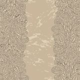 Floral design border in renaissance style Royalty Free Stock Photography