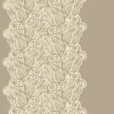 Floral design border in vintage style Stock Images