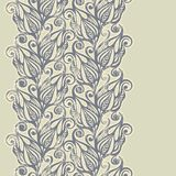 Floral design border in vintage style Royalty Free Stock Photo