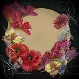 Floral design bouquet on black background Stock Images