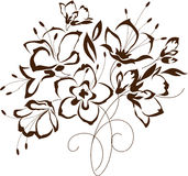 Floral design, bouquet of stylized flowers Stock Photography