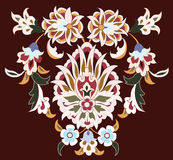 Floral design on brown. An artistic floral design on a dark brown background Royalty Free Stock Photo