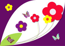 Floral design with butterflies Royalty Free Stock Image