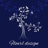 Floral design card royalty free illustration