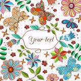 Floral design card Royalty Free Stock Images