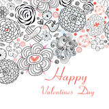 Floral Design Cards for Valentine s day holiday Royalty Free Stock Photo