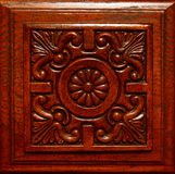 Floral Design Carved in Wood. A floral design carved in wood Royalty Free Stock Photos