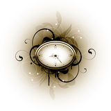 Floral Design Clock Royalty Free Stock Images