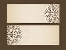 Free Floral Design Decorated Website Header Or Banner Set. Royalty Free Stock Photos - 52460428