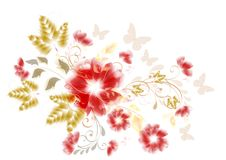 Floral design element Royalty Free Stock Photo
