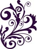 Floral design element. Curled floral element for design stock illustration