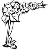 Floral design element art nouveau Royalty Free Stock Photo