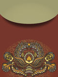 Floral design element on brown background Stock Photo