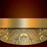 Floral design element on brown background Royalty Free Stock Photo
